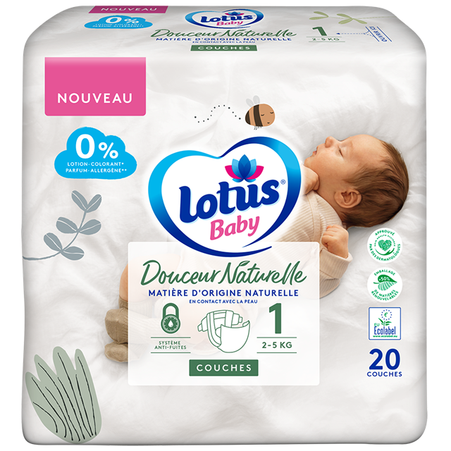 Couches Lotus Baby Douceur Naturelle Taille 1